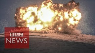 Islamic State command centre 'hit' by US air strike near Kobane - BBC News