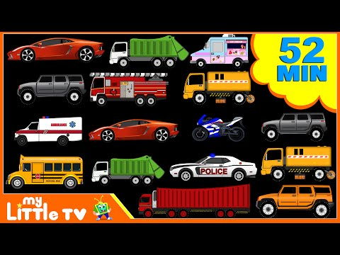 Street Vehicles | Car Wash Videos | Nursery Rhymes Plus Lots More | My Little TV