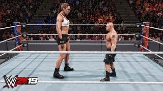 Video WWE 2K19 Giant Ronda Rousey vs Mini Brock Lesnar Match! MP3, 3GP, MP4, WEBM, AVI, FLV Januari 2019
