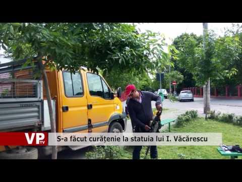 S-a făcut curățenie la statuia lui I. Văcărescu