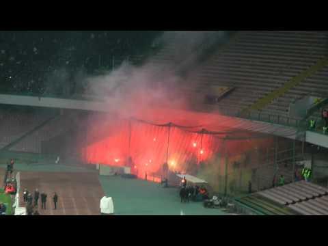 Ultras Roma entrano al San Paolo
