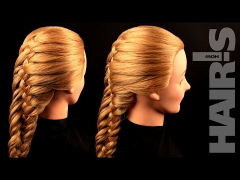 How to do an original French fishtail braid hairstyle