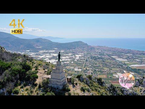 Terracina in 4K HDR Drone DJI Mavic 2 pro footage viaggi Italy