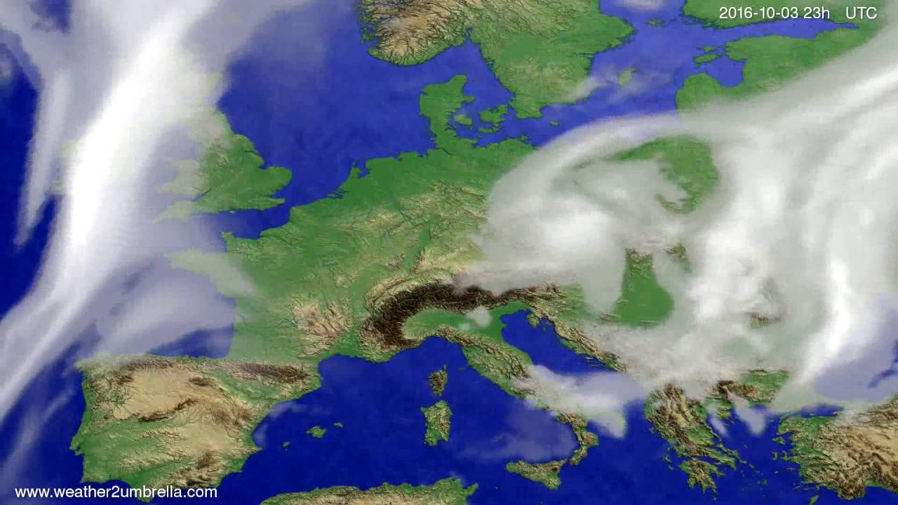 Cloud forecast Europe 2016-09-30