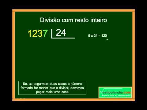 Matemática Zero - Aula 4 - Divisão - Segunda Parte
