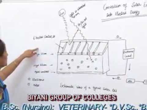 Electricity Production Using Solar Photovolatic Cells lecture, Btech  by Disha Mehtani