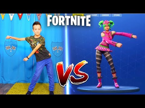 FORTNITE DANCE CHALLENGE! - In Real Life  Кто КРУЧЕ ТАНЦУЕТ