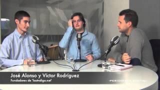 José Alonso y Víctor Rodríguez, fundadores de 'laotraliga.net'. 6-11-2013