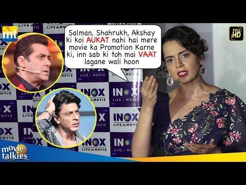 Kangana Ranaut's SHOCKING Insult To Salman Shahrukh & Akshay On Nepotism Controversy