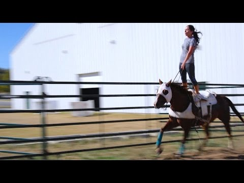 Haley Ganzel, A Trick Riding Legacy