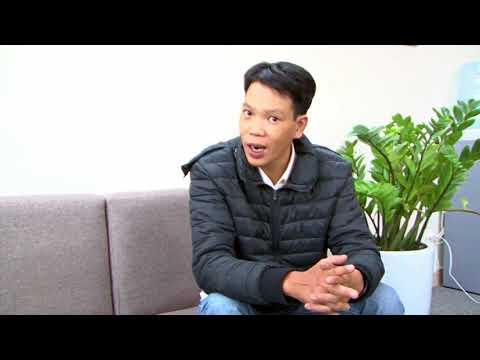 Học viên Khánh Đức 34 tuổi chia sẻ niềm vui của mình