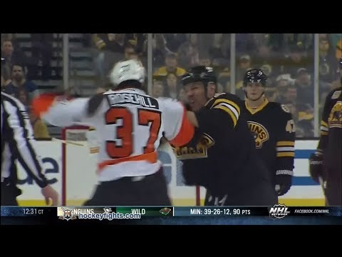 Jay Rosehill vs Shawn Thornton Apr 5, 2014