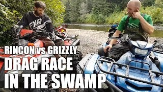 10. Yamaha Grizzly VS Honda Rincon All-Out Drag Race In The Swamp