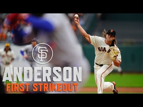 2019 - Shaun Anderson's First Career Strikeout