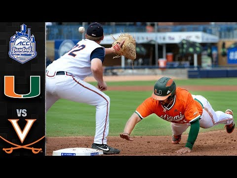 Miami Vs. Virginia ACC Baseball Championship Highlights (2019)