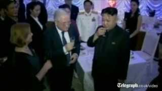 North Korea: Kim Jong-un and wife attend lively New Year party
