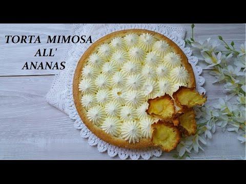 torta mimosa all'ananas - ricetta