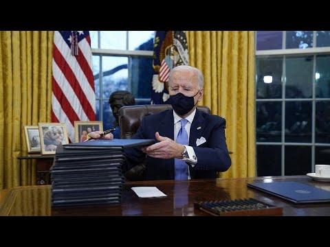 USA: Schneller Amtsbeginn - Joe Biden erlässt 17 Dekr ...