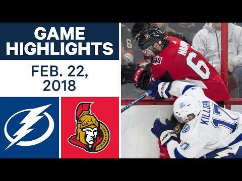 Video: NHL Game Highlights | Lightning vs. Senators - Feb. 22, 2018