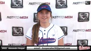 2022 Alexandra 'Alex' Hooper Athletic Middle Infielder and Outfield Softball Skills Video - AASA Ayala