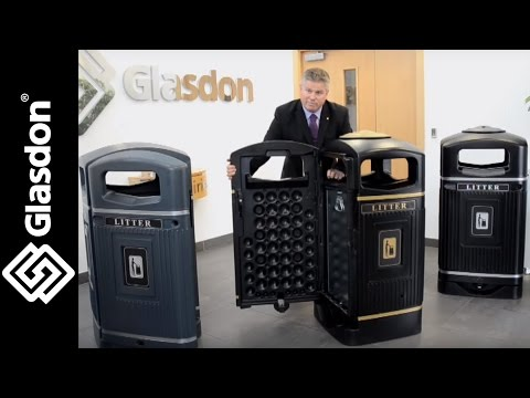 Glasdon UK | product demonstration | Glasdon Jubilee™ litter bin