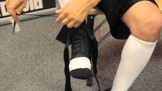 How to put on McDavid's #195 Ultralight Laced Ankle Brace