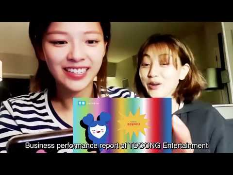 TWICE Reaction to Teudoong Entertainment Video (Jihyo,Mina & Tzuyu) TWICE VLIVE