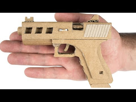 Smallest Glock 19 In The World That Shoots - DIY Cardboard