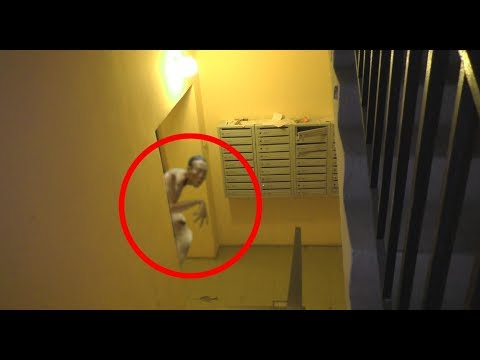 3 Mysterious Creatures Caught On Camera. A strange figure scared me in the doorway