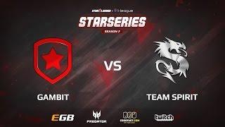 Gambit vs Spirit, game 1