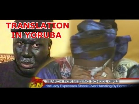 Dramatic First Lady Patience Jonathan Cries Again Translated in Yoruba -hilarious