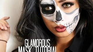 Glamorous Half Skull Mask Tutorial - YouTube