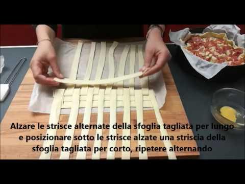 torta rustica intrecciata - ricetta