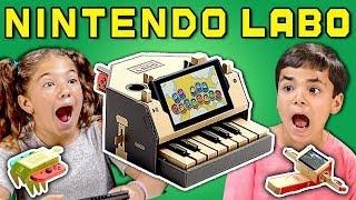 Video KIDS REACT TO NINTENDO LABO (Cardboard Video Games?!) MP3, 3GP, MP4, WEBM, AVI, FLV Mei 2018