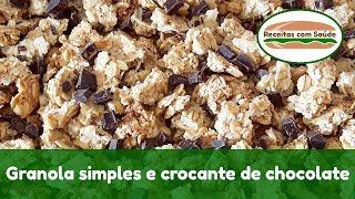 Granola simples e crocante de chocolate