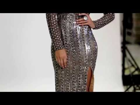 Shail K Sexy Long Sleeved Prom Dress 3540