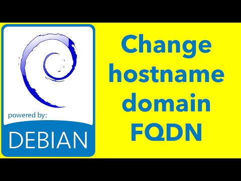 how to set fqdn debian