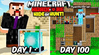I Spent 100 Days in a Hardcore Minecraft Hide or Hunt...