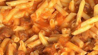 Pâtes au chorizo et aux tomates