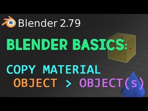 Blender Basics: Copy material from one object to another object