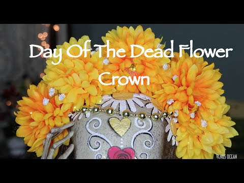 ❉DIY FLOWER CROWN (DAY OF THE DEAD)  ❉