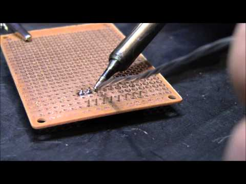 How to solder - Beginner tips on good soldering technique. To learn more about electronics visit: http://www.electronhacks.com/