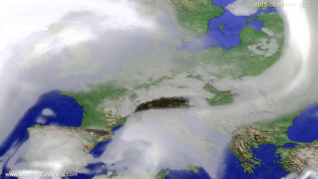 Cloud forecast Europe 2015-10-23