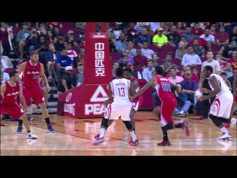James Harden Dishes Through DeAndre Jordan's Legs