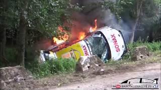 Bonjour à tous, Je vous fait partager une sortie violente d'une Opel Adam de l'équipage n°224 lors du rallye Wrc Adac...