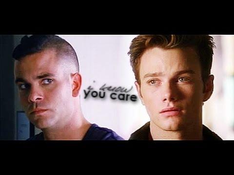 Puck +Kurt (Ft. Blaine) | I know you care (видео)