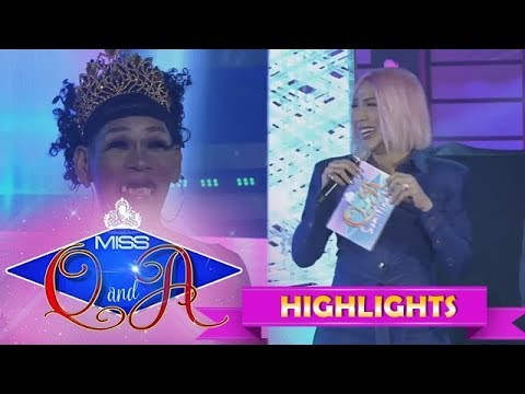 It's Showtime Miss Q & A Semifinals: Vice Ganda Reveals Something About Angelika Mapanganib