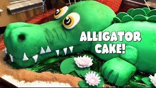 LIFE-SIZED ALLIGATOR CAKE! by GRAV3YARDGIRL