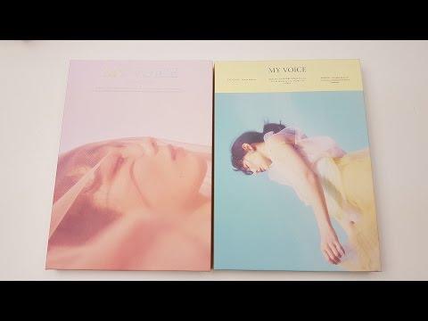 Unboxing Taeyeon 태연 1st Studio Album My Voice (Deluxe Edition) (видео)