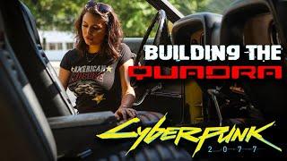 Cyberpunk 2077 Custom QUADRA build with Rockstar Energy Performance Garage